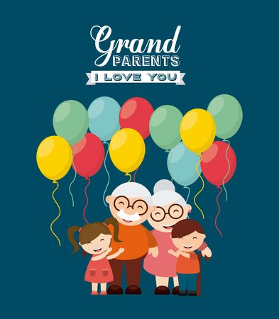 happy grandparents day design, vector illustration eps10 graphic Ilustrace