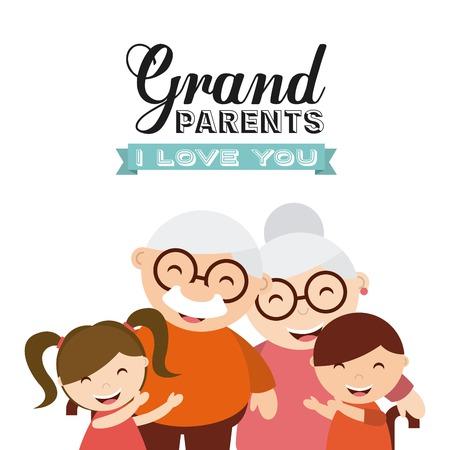 happy grandparents day design, vector illustration eps10 graphic  イラスト・ベクター素材
