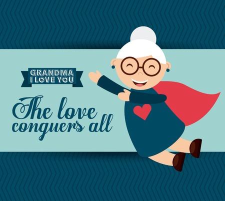conquers: happy grandparents day design, vector illustration eps10 graphic Illustration