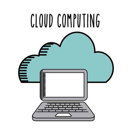 remote access: cloud computing design, vector illustration eps10 graphic