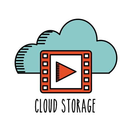 record office: cloud computing design, vector illustration eps10 graphic