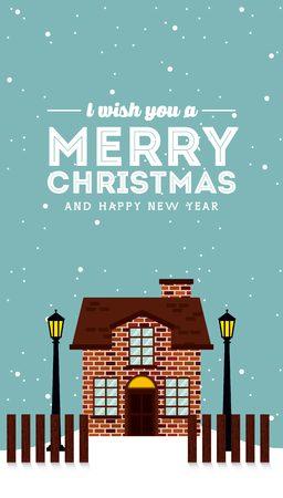 snowscape: happy merry christmas design, vector illustration eps10 graphic