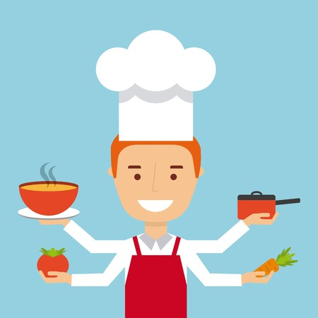 people cooking design, vector illustration eps10 graphic