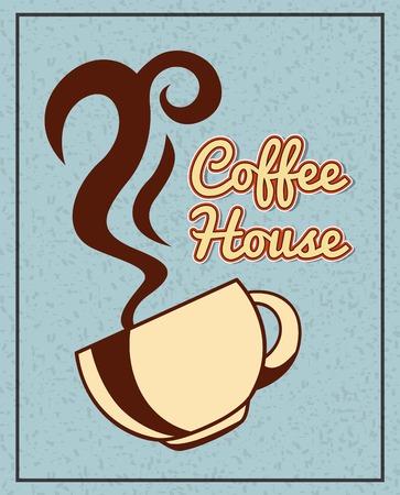 맛있는 커피 디자인, 벡터 일러스트 레이 션 eps10에 그래픽 일러스트