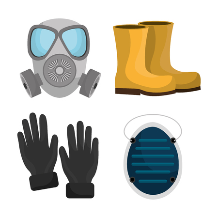 industrial safety: Industrial security equipment graphic design, vector illustration