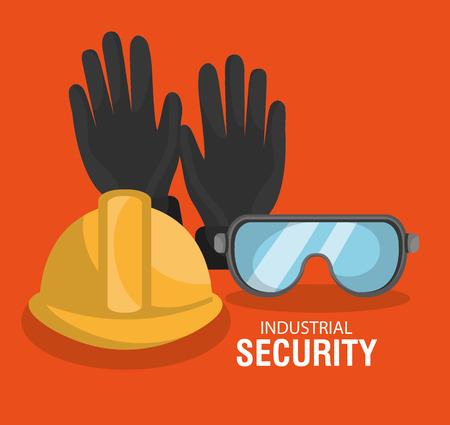 the precaution: Industrial security equipment graphic design, vector illustration