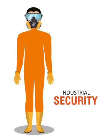 Industriële veiligheid apparatuur grafisch ontwerp, vector illustratie Stock Illustratie