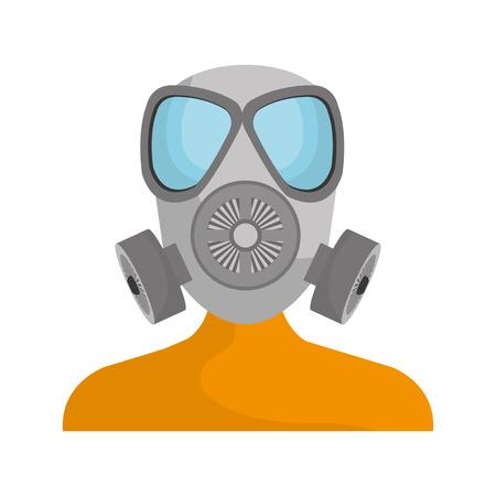 seguridad industrial: Equipos de seguridad industrial diseño gráfico, ilustración vectorial