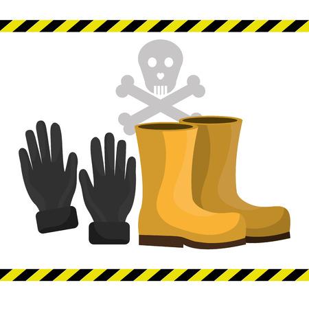 seguridad industrial: Equipos de seguridad industrial dise�o gr�fico, ilustraci�n vectorial