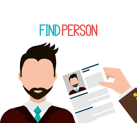 executive search: Find person to get a job design, vector illustration eps10