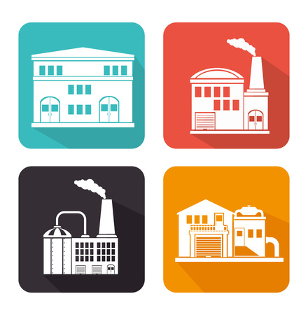 factory: Factories and industries graphic design, vector illustration eps10 Illustration