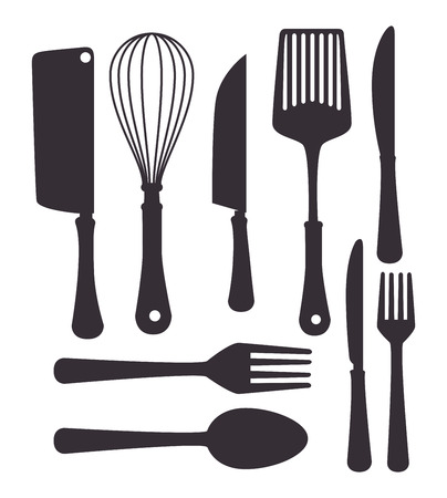 restaurant icons: Restaurant and kitchen dishware design with icons, vector illustration graphic