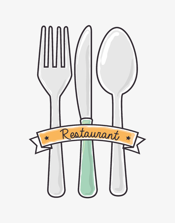 dishware: Restaurant and kitchen dishware design with icons, vector illustration graphic