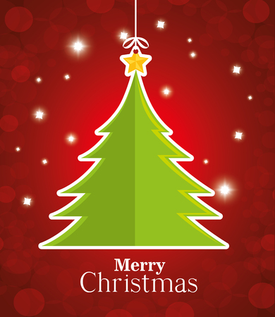christmas postcard: Merry christmas colorful card design, vector illustration eps 10