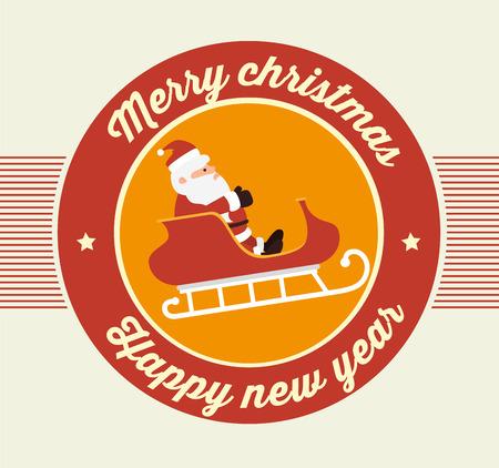 papier a lettre: Design Joyeux Noël de carte coloré, illustration vectorielle eps 10 Illustration