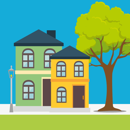 residential tree service: Real estate business and profits, vector illustration graphic Illustration