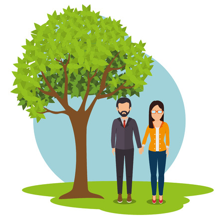 young relationship: Young people relationship , vector illustration graphic eps10