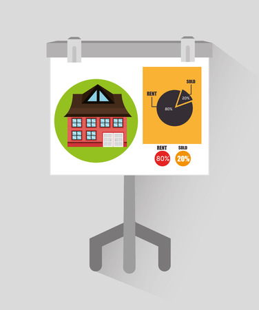 estate planning: Real estate business and profits, vector illustration graphic Illustration