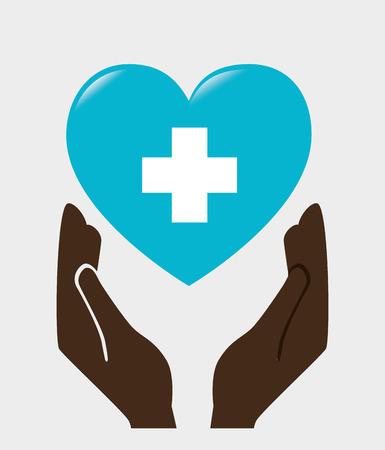 Medische gezondheidszorg grafisch ontwerp met pictogrammen, vector illustratie