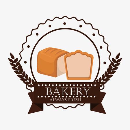 pain frais: bakery fresh bread label graphic design, vector illustration eps10