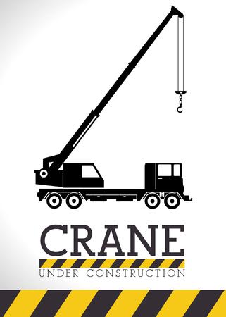 advertising construction: Under construction graphic advertising, vector illustration desgin
