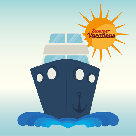 cruiser: Summer, travel and vacations graphic design with icons, vector illustration