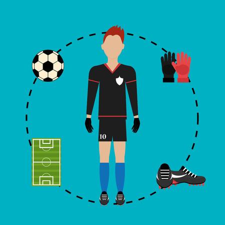 Fußballmannschaft Sport-Spiel-Grafik-Design, Vektor-Illustration