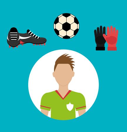 soccer team: Soccer team sport and games graphic design, vector illustration Illustration