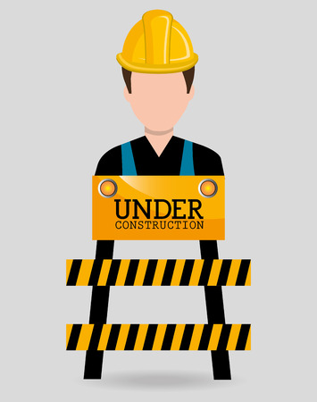 maintenance worker: Construction and tools graphic design icons, vector illustration eps10 Illustration