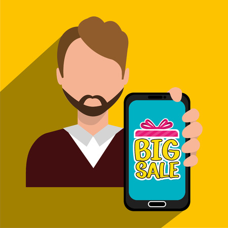 advert: Shopping big sales offers advert design, vector illustration graphic