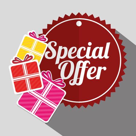 big sales: Shopping big sales offers advert design, vector illustration graphic
