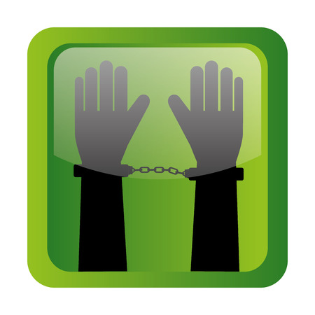 handcuffs woman: Law and legal justice graphic design, vector illustration eps10 Illustration
