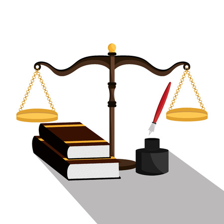 law books: Law and legal justice graphic design, vector illustration eps10 Illustration