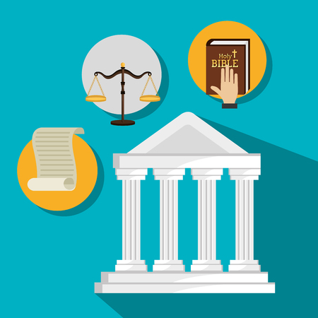 balance sheet: Law and legal justice graphic design, vector illustration eps10 Illustration