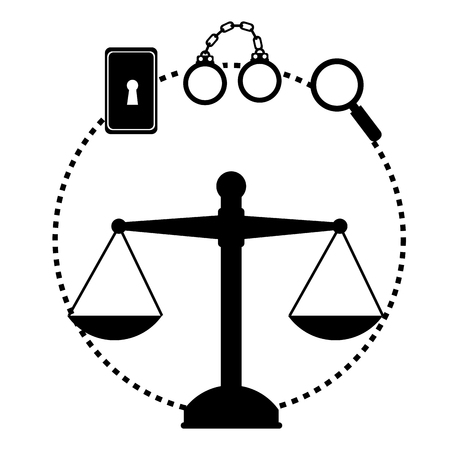 prosecutor: Law and legal justice graphic design, vector illustration eps10 Illustration