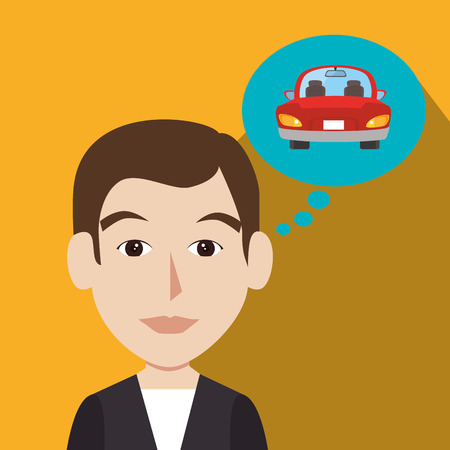 car driver: Buy or rent a car business, vector illustration graphic design.