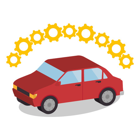 upkeep: Buy or rent a car business, vector illustration graphic design.