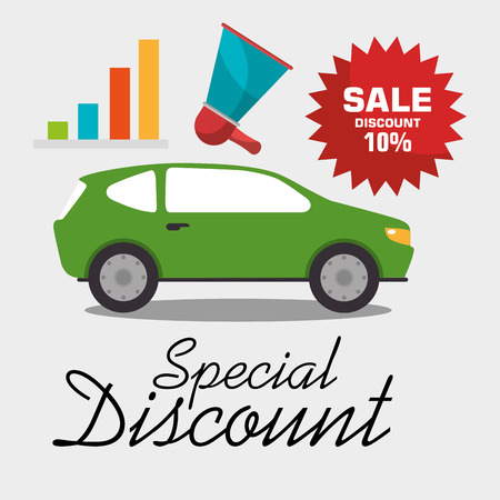 renting: Buy or rent a car business, vector illustration graphic design.