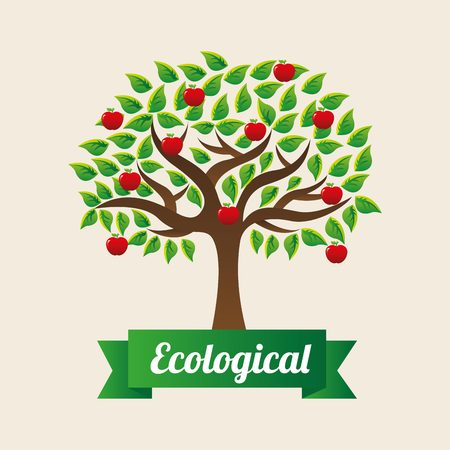 ecological: ecological mind design, vector illustration
