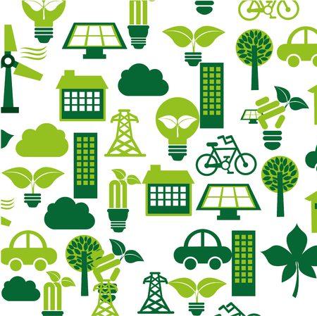energy icon: ecological mind design, vector illustration  Illustration