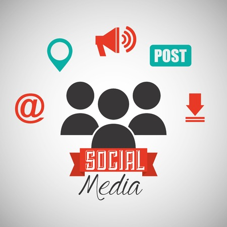 arroba: social media design, vector illustration