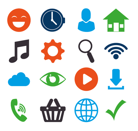 sep: Social media design with multimedia icons, vector illustration graphic