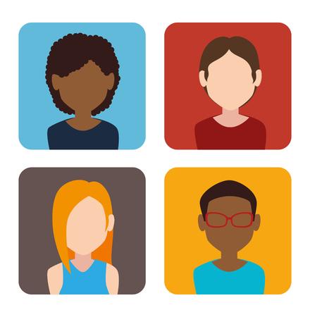 profil: osób Ikona profilu projekt graficzny