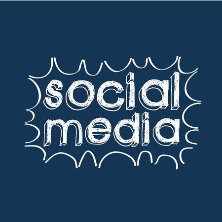 social web: social media design, vector illustration