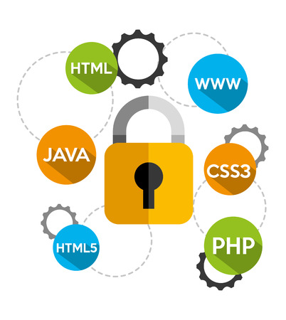 css3: business security design, vector illustration eps10 graphic