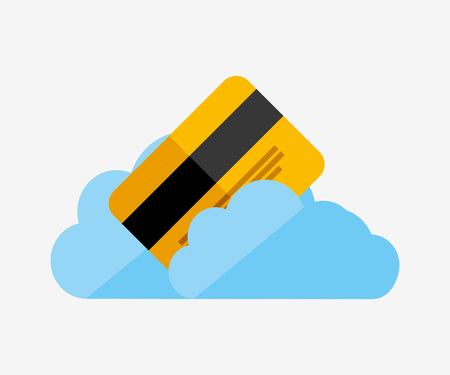 oney: cloud computing design, vector illustration eps10 graphic