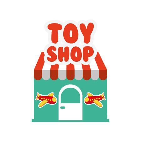 retail place: toys kids shop design, vector illustration eps10 graphic