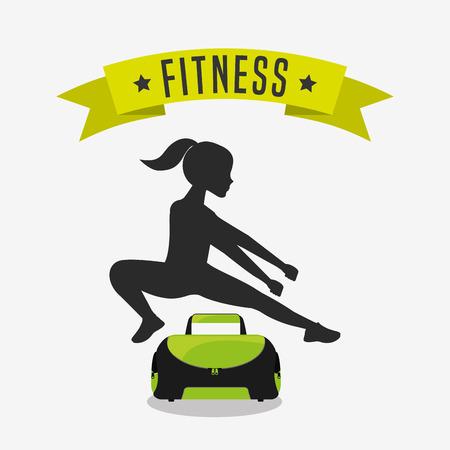 workout gym: healthy lifestyle design, vector illustration eps10 graphic Illustration