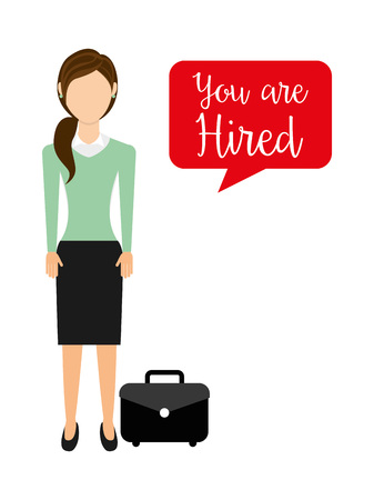 recruter: hiring workers design, vector illustration eps10 graphic