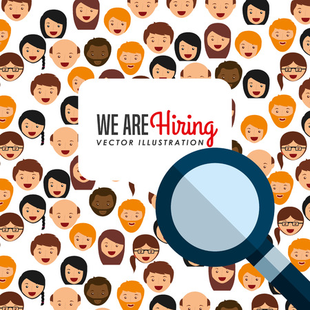 hiring: hiring workers design, vector illustration eps10 graphic